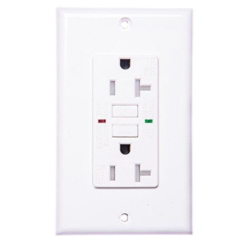 TOPELE 20 Amp 125 Volt Weather-Resistant GFCI Outlet