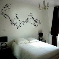 Black Cherry Blossom Flower Mural Wall Stickers Home Art ...