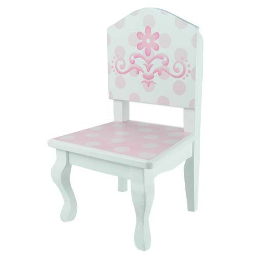 american doll chair paper covers 18 inch table chairs set fits girl dolls and more pink new