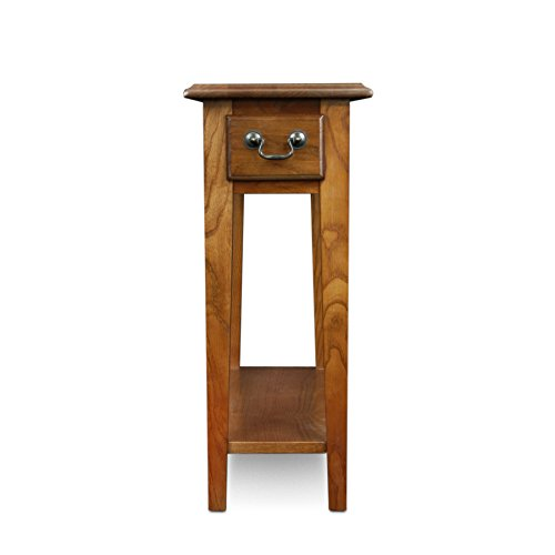 Leick Chair Side End Table Medium Oak Finish New  eBay