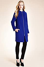 Autograph Wool Rich Zip Through Coat with Cashmere