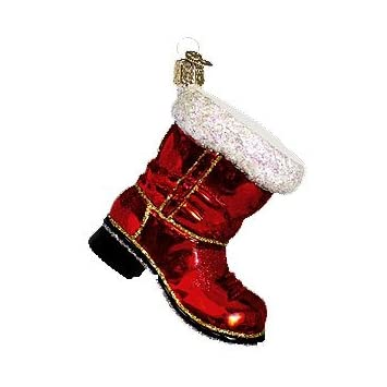 Old World Christmas Santa's Boot Ornament
