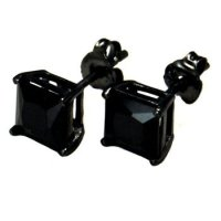 Black Stud Earrings For Men