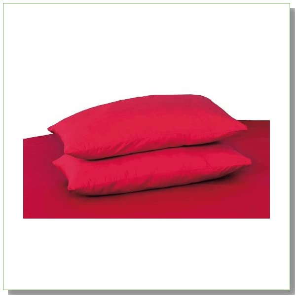 Tache 100% Cotton 2 Piece Red Pillowcase