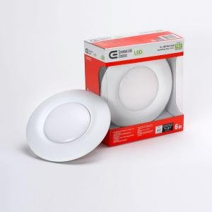 T67Commercial Electric 6 In Recessed Soft White LED Disk