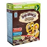 Nestle Koko Krunch Duo, Chocolate and White Chocolate Flavoured Whole Grain Wheat Curls Breakfast Cereal 25-grams Package, 1 Count