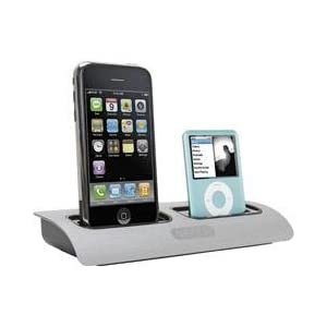 Griffin Powerdock Dual-Position Charging Station for iPod and iPhone (Silver)