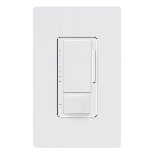 Lutron MS-VP600GHW-WH Maestro Vacancy Sensor with Eco-dim Dimmer, White