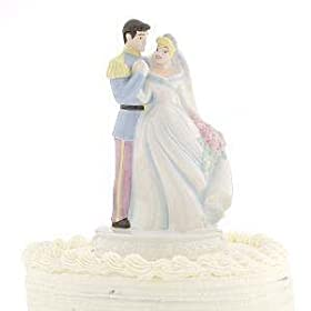 Cinderella & Prince Charming Wedding Cake Topper