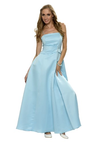 Elegantes langes Abendkleid, Farbe hellblau, Gr.38 von Astrapahl