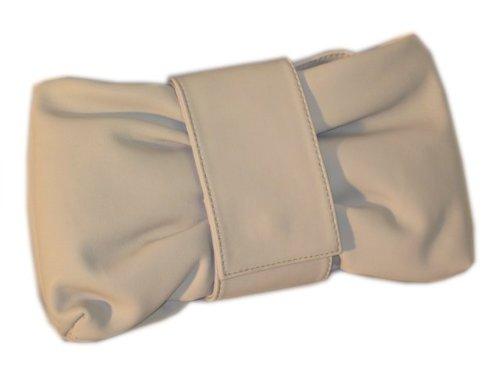Weiche Nappa Leder Clutch - kleine Handtasche grau