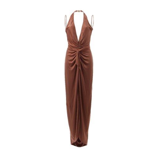 Versace Abendkleid Kleid in braun rosa