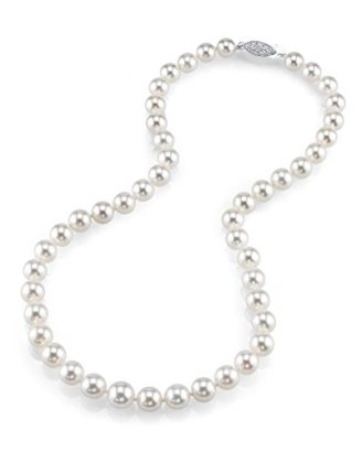 14K-Gold-8-10mm-Japanese-Akoya-White-Cultured-Pearl-Necklace-AAA-Quality-24-Inch-Matinee-Length