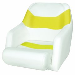 Lidl Fishing Chair Replacement Slings For Patio Chairs Wise Standard Bucket Seat With Bolster Flip Up White Yellow Sylvia