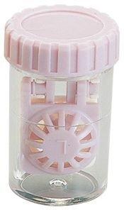 Barrel Stil Kontaktlinsenbehälter - PINK ~ (3 pack)