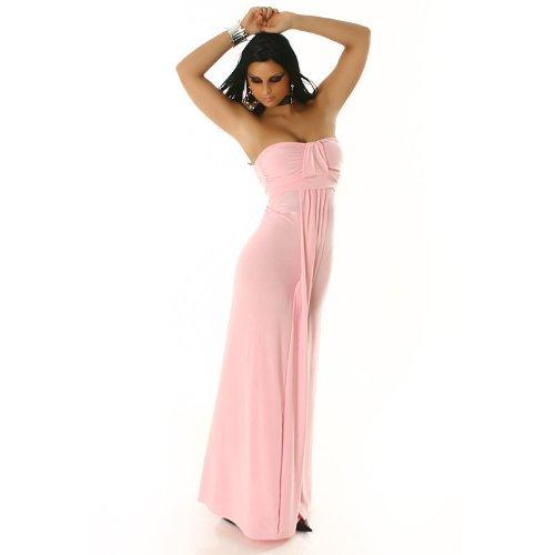 Bandeau Abendkleid lang, rosa Größe 38 40 42