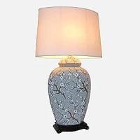 Large Oriental Ceramic Table Lamp (M5840) - Chinese ...
