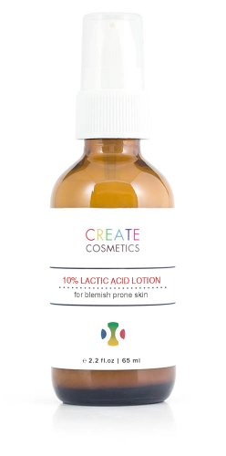 Tea Tree Oil and 10% Lactic Acid lotion for acne prone skin by Create Cosmetics - 2.2 fl.oz