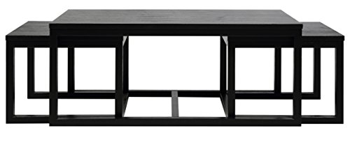 set of 3a coffee tables solid wood cornus black best coffee tables deals