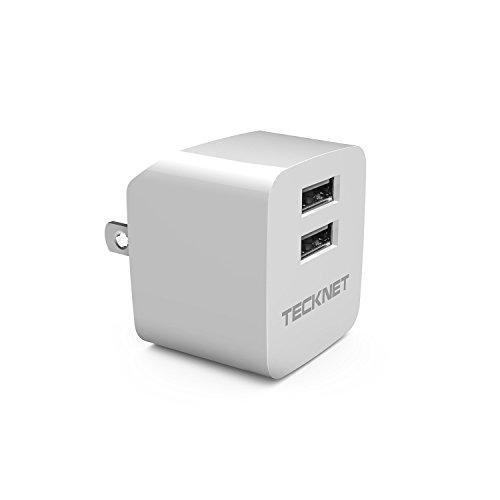 TeckNet USB充電器 2ポートミリ充電器 超小型 折りたたみ式 ACアダプター Apple iPhone6s/6s Plus/iPhoneSE/5S/5/4S/4/iPod/iPad/Xperia/GALAXY/Mobilbe Phone/MP3/PDA/デジタルカメラ等対応