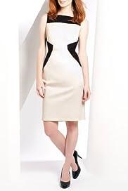 Cotton Rich Colour Block Sateen Shift Dress [T59-0236D-S]