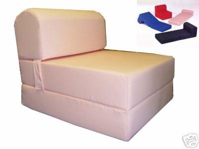 folding foam bed chair to peach sleeper sized 6