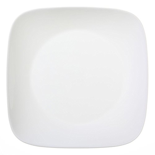 Corelle Square Pure White 10.25 Dinner Plate (Set of 4