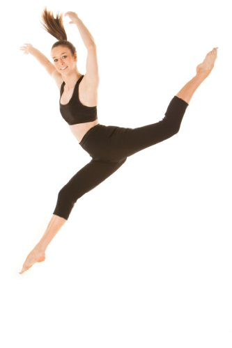 SlimHot® Women's Hot Slimming Capri Pants Leggings, Anti-cellulite Body Shape Wear Shapewear Weight Loss, M Black