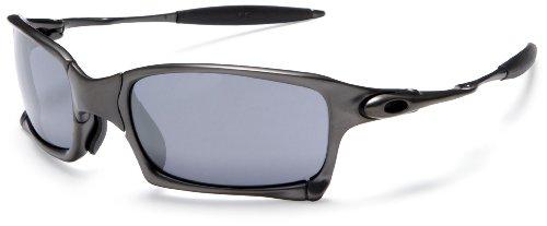 oakley mens iridium x squared metal sunglassescarbon frameblack iridium lens