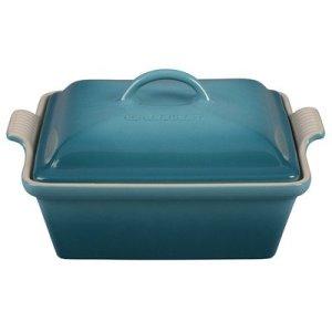 Stoneware-25-qt-Square-Casserole-Color-Caribbean