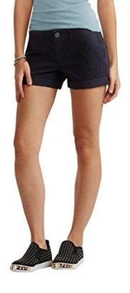 Aeropostale-Womens-Color-Wash-Twill-Midi-Shorts-6-Black
