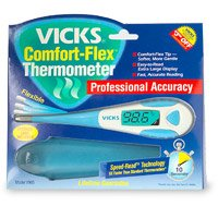 VICKS COMFORTFLEX THERMOMETER WITH IN-SIGHT *8 SECONDS V965F