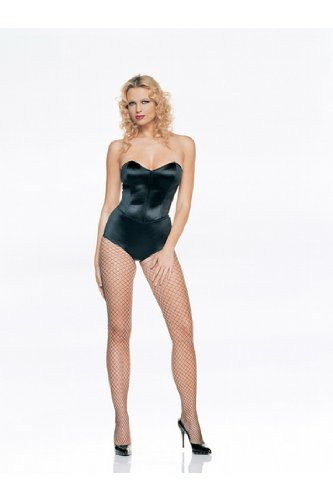 Sexy Playboy Bunny Strapless Body Suit Teddy With Boning Lingerie Leg Avenue