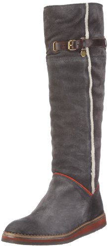 Mexx Winnie 1 High Suede Boot F9RE0029, Damen Stiefel, Grau (SHARK GREY 79) EU 41
