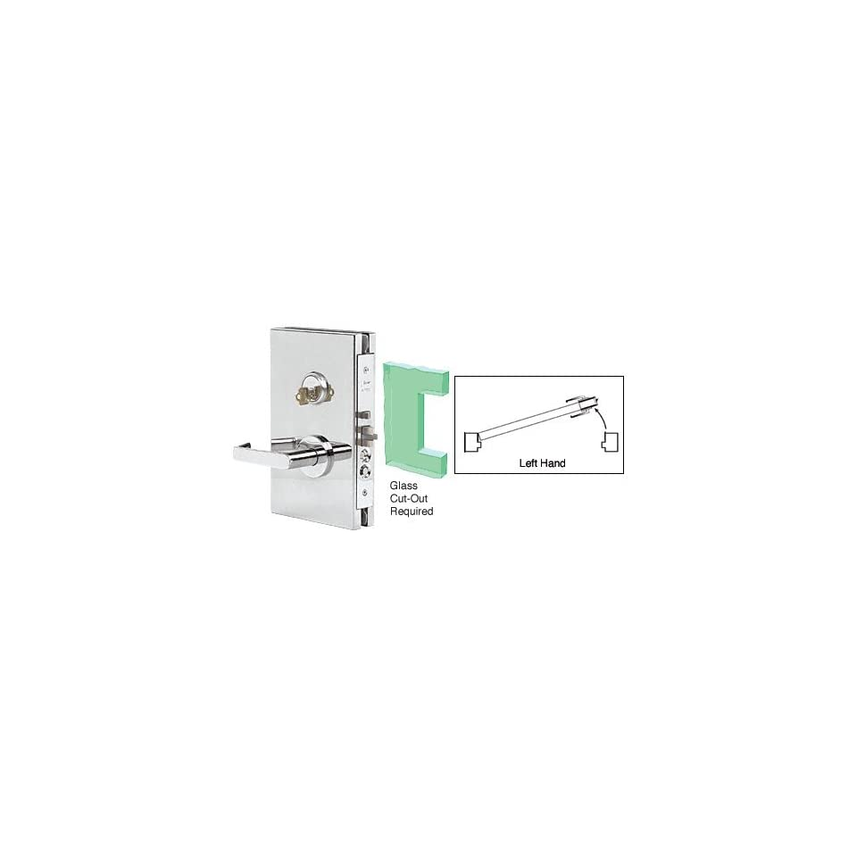 medium resolution of hardware crl satin chrome 6 x 10 rh center lock with deadlatch in entrance lock function