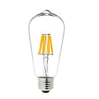 TGM LED 8 Watt LED Filament Light Bulbs Soft White 2700K
