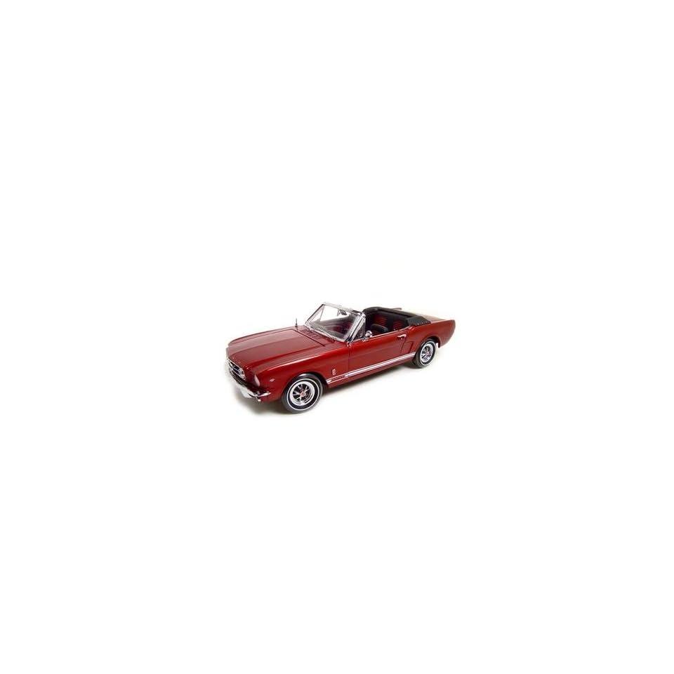 hight resolution of 1965 ford mustang convt maroon ertl authentics diecast model 118