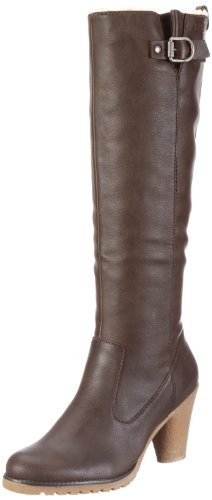 ESPRIT Stella Fur Bootie X10411, Damen Stiefel, Braun (medium brown 236), EU 39