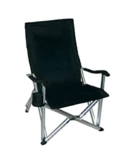 folding lawn chairs heavy duty chair covers in canada amazon.com: deluxe - black: kitchen & dining