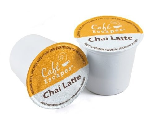 Café Escapes Chai Latte, K-Cup Portion Pack For Keurig
