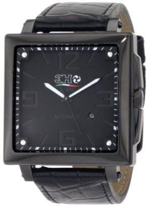 3H-Womens-CA01-Cube-Black-PVD-Automatic-Black-Dial-Interchangeable-Band-Watch