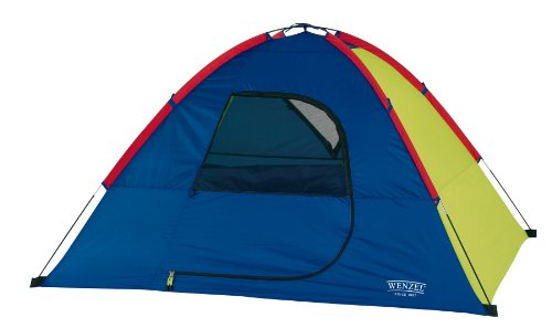 Wenzel Sprout 6 X 5-Feet Two-Person Children's Dome Tent (Green/Blue/Red)