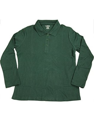 French-Toast-Little-Girls-Long-Sleeve-Interlock-Polo-with-Picot-Trim-Collar-Hunter-33640-5