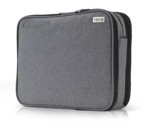 iHome Smart Brief: 13 inch Laptop Briefcase for Mac, Heathered Grey