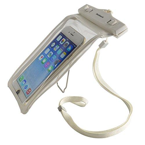 オウルテック 防水・防塵ケース もしもの時でも安心メーカー保証 iPhone 6s / 6sPlus等対応 最高級保護レベルIP68取得 クリップスタンド機能 ネックストラップ付 ホワイト
