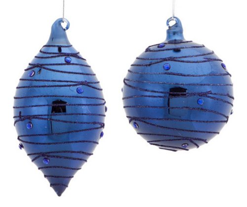 royal blue Christmas ornament