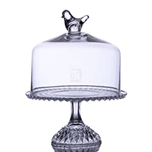 Glass Footed Cake Plate With Dome