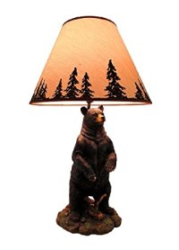 Standing Grizzly Bear Table Lamp w/ Silhouette Shade ...