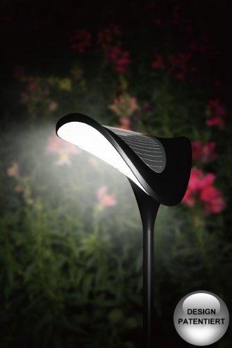 "LED Designer Solarlampe ""ROCHEN"" Solarleuchte Gartenlampe Solar"