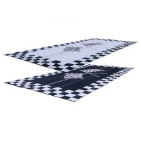 RV Patio Mat: 9x12 Finish Line Checkered Flags Mat